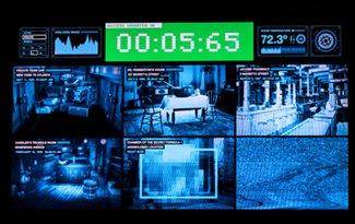 video surveillance screens