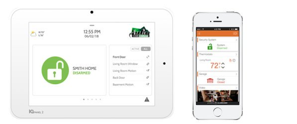 Allied Security Qolsys Panel and Smart iPhone App