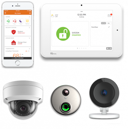 Video Cameras With Touch Screen Panels and Smart Security App