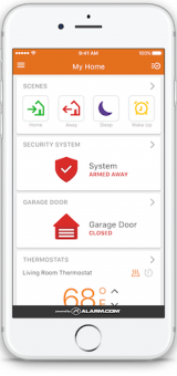 Allied home security mobile application