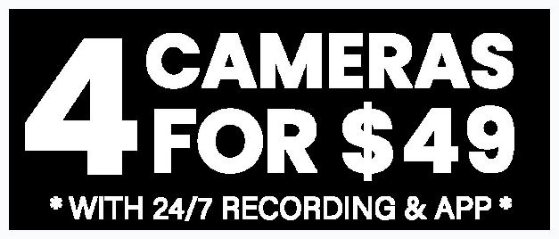 Four Cameras for $49