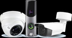 Three security cameras