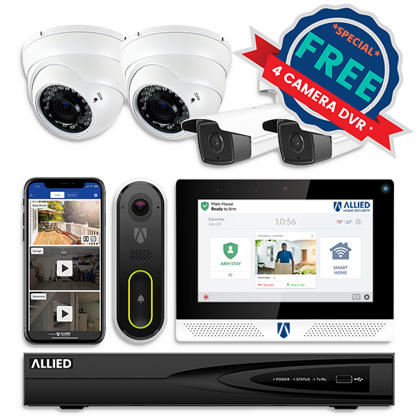 Free 4 Camera DVR Home Security System